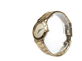 Auth GUCCI 3300L Gold Pleated Band Quartz Ladies Watch GW17808L - $330.40 CAD