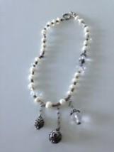 beaded multi pendant necklace - $24.99