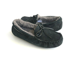 UGG DAKOTA TWINKLE SPARKLE BLACK SHEARLING SLIPPERS US 10 / EU 41 / UK 8 - $92.57