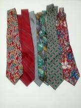 Van Heusen 417 Editions Lot Of 6 Ties Silk Cotton - $14.96