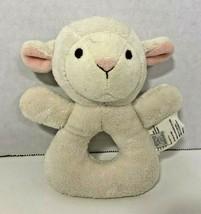 Koala Baby small plush sheep lamb rattle ring white cream toy stuffed - $6.92