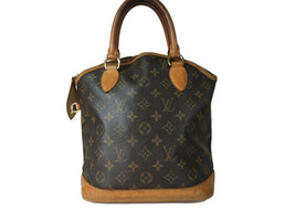 LOUIS VUITTON Lockit Vertical Monogram Canvas, Leather Hand Bag M40103 - $430.00