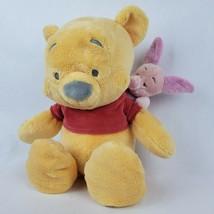 "Disney Parks Winnie the Pooh Piglet Piggyback 15"" Plush Stuffed Animal A... - $31.44"