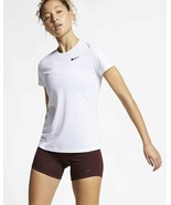 Nike Women's Dry Legend Crew Neck Training Top, White, XS - $18.90