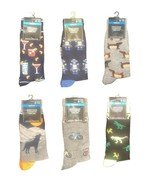 Mens Funky NOVELTY SOCKS Bar Cocktail Robot Wiener Dog Wolf Bicycle T-Re... - $3.77+