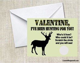 Deer Hunting Scratch Off Cards Valentine's Day Valentine Party School Cu... - £0.76 GBP+