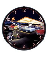 "Bruce Kaiser ""Ted's Drive-in"" Hotrod Lighted Wall Clock - $129.95"