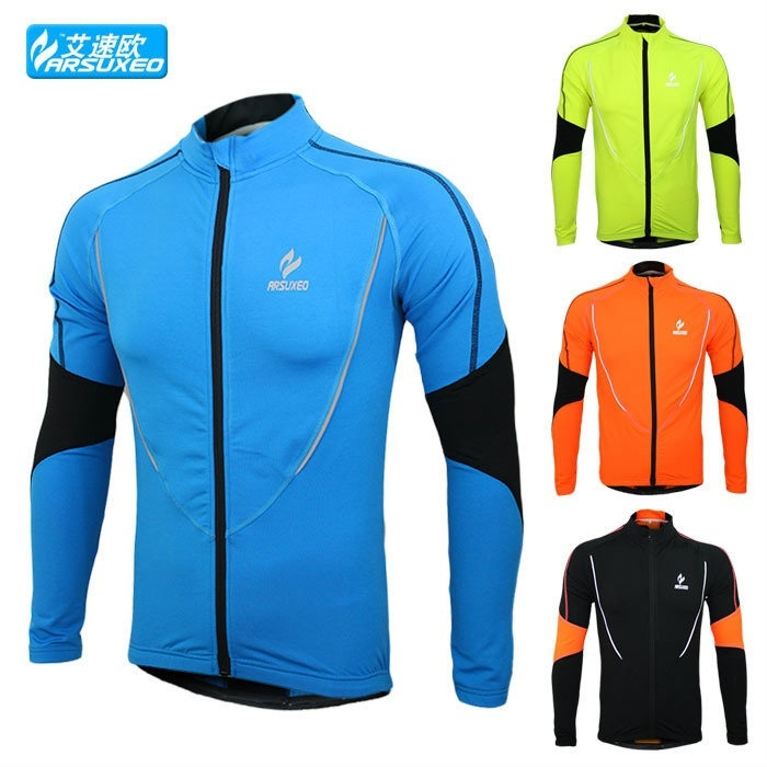 Warm autumn and winter models Cycling Jackets Sports Jerseys Men's Riding Breath
