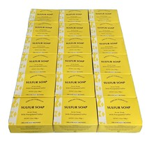 (Pack of 18) Sulfur Acne Treatment Facial Soap, 3.5oz. Free Shipping! - $44.80