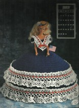 Barbie or Fashion Doll Crochet Dress Pattern-July-Annie Original - $3.95