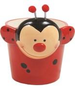 "Planter Pot RED & BLACK LADY BUG DOLOMITE (FITS 4"" POT)  - $14.99"