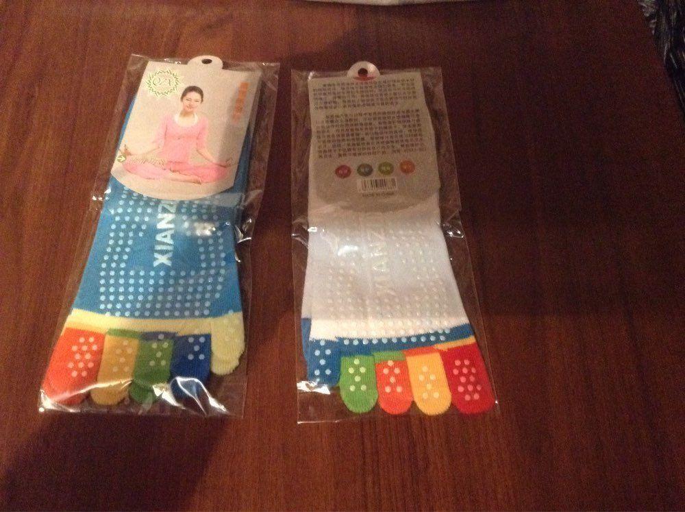 Colorful Sports Toe Socks Women Professional Yoga Fitness Pilates Non-Slip Socks