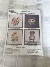 FAMILY CIRCLE Crewel Embroidery Kit F701 Harvest Bouquet Picture/Pillow - $15.88