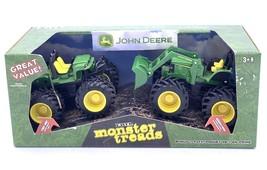 NEW In Package John Deere Monster Treads Tractor Set ERTL - $20.52