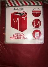 "Whitmor Christmas Rolling Storage Bag 16""x36""x33"" W Wheels-RARE-SHIPS N 24HR-NEW - $87.88"
