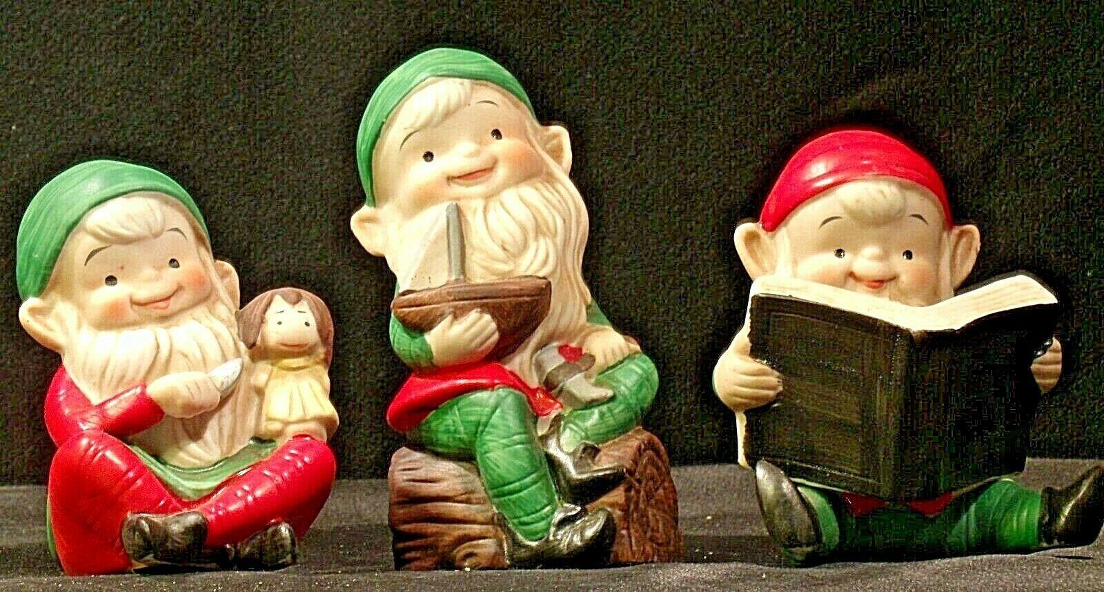 Holiday Elf Figurines AA-192053 Vintage Santa's helpers!