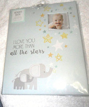 Stepping Stones I Love You More Than All the Stars Elephant Memory Book - $12.87