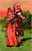 Vintage Paul Finkenrath Berlin Embossed Postcard Oh Sir This is So Sudden! UNP - $14.95