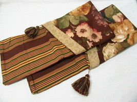 Waverly Sweetwater Floral Stripe Burgundy Envelope Tassel King Shams (Set of 2) - $38.00
