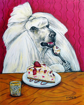 animal Art oil painting printed on canvas home decor POODLE dog art - $14.99+