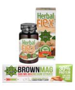 Protein Bar Peanut Magnesium Muscle Recovery + Herbal Flex Curcuma Ginge... - $32.66