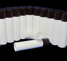 100 Lip Balm Tubes Chocolate Cap Empty DIY Beauty Containers 0.15 oz #9260 - $23.95