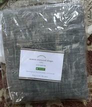 Pottery Barn Seaton Drape Gray 50x108L Pole Pocket Curtain Textured Just... - $63.20