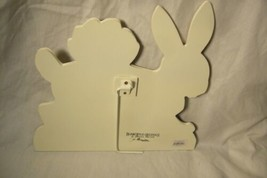 Bethany Lowe Lg White Bunny with Egg Basket Dummy Board image 2