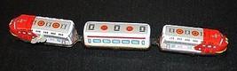 Vtg Wind Up Metal Express Train Bai Bao Friction Grande Vitesse 3 cars W... - $23.22