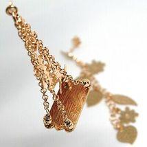Drop Earrings 925 Silver, Leaves, Flowers, Girl on Swing, le Favole image 3