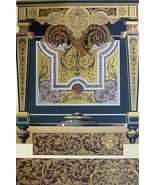 BAROQUE Metal Marquetry by Boulle at Louvre - A. RACINET Color Litho Print - $25.20