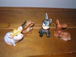 Vintage Lot of 4 Made in Japan & Not Frog Deer Donkey Garden Pig Ceramic... - $9.49