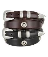 "Waco Texas Star - Concho Ranger Genuine Leather Jean Cowboy Belt, 1-3/8""... - $36.50"