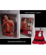 Spiral Lingerie Clubwear NIP SZ XL Style 4006 Red & Black One Piece - $15.99