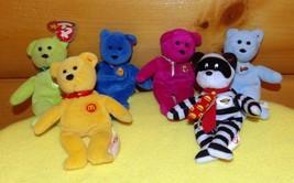 TY 19 TOYS Mini Plush Bears & Animals McDonalds Happy Meal 25 & 30th Ann... - $9.79