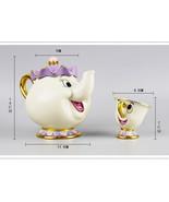Cartoon Beauty And The Beast Teapots Mug Mrs. Potts Chip Tea Pot and Cup... - $14.99+