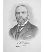 JAMES KEENE England Born Mining Stocks Speculator - 1895 Portrait Print - $12.60