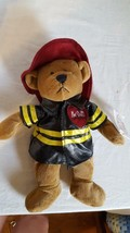 "GANZ HERITAGE COLLECTION PLUSH 12"" FIREMAN BEAR, HOT STUFF VALENTINE, WI... - $4.94"