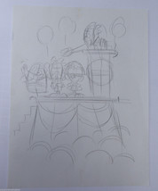 ORIGINAL DISNEY ARTIST, LEN SMITH,THREE STOOGES SKETCHES, CONCEPT DRAWING 1 - $18.99