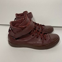 Converse Chuck Taylor All Star Brea Maroon Leather High Top Sneaker Womens 7 Red - $41.57