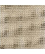 Country Mocha 20ct Aida 18x22 cross stitch fabric Zweigart - $8.55