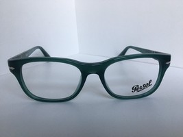 New Persol 3095-V 1001 Polished Green 53mm Rx Men's Eyeglasses Frame Italy - $74.99