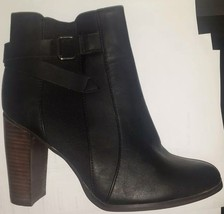 ladys black leather ankle boots in size's 7&8 - £13.61 GBP