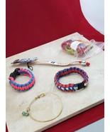 Set of 5 Bracelets - Cord Bracelets, Zumba Bands, Baseball - $6.99