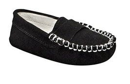 Suede Trumfit Baby Moccasin Newborn Infant Crib Shoe (6-9 Months, Black) - $25.00