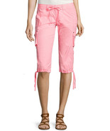 Arizona Poplin Cropped Cargo Pants Juniors Size 15 Msrp $42.00 New - $19.99