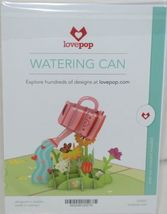 Lovepop LP2021 Watering Can Pop Up Card Pink White Envelope Cellophane Wrapped image 6