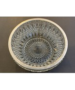 "Crystal Glass Center piece Bowl with Silver plated Rim 10"" - $229.99"