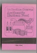 Vtg Strike on Matchbook  La Cocina Cuevas Mexican Food Restaurant Lodi, ... - $11.87