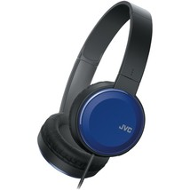 JVC HAS190MA Colorful On-Ear Headphones (Blue) - $38.62